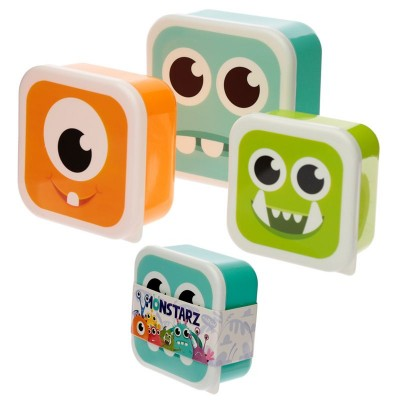 SET 3 VASCHETTE MERENDA MONSTER