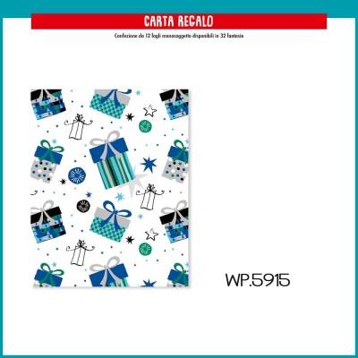 WP5915 CARTA REGALO PACCHETTI BLU