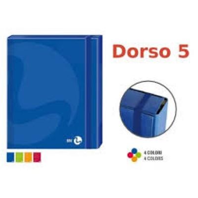 CARTELLETTE ELASTICO A4 DORSO 5
