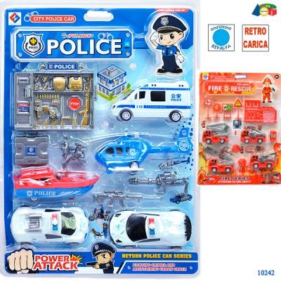 BLISTER MEZZI POLIZIA E POMPIERI