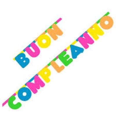 FESTONE BUON COMPLEANNO CM.300