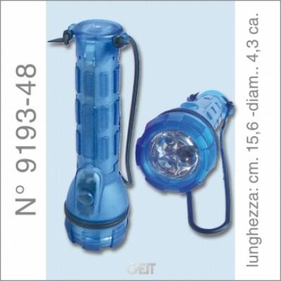 TORCIA A LED BLU CM. 16