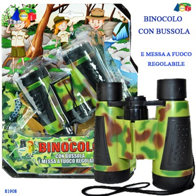 BLISTER BINOCOLO CON BUSSOLA