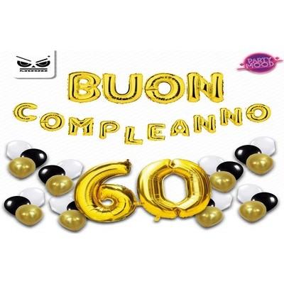 BUSTA BUON COMPLEANNO 60 ANNI